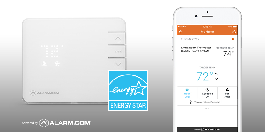 Alarm.com Smart Thermostat Energy Star