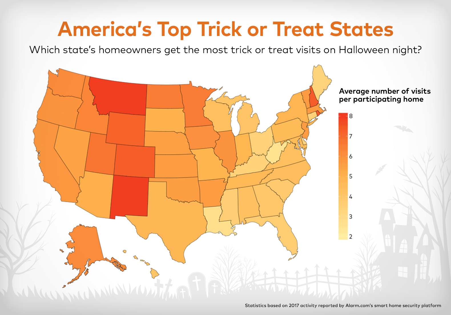 Top Halloween States Alarm.com